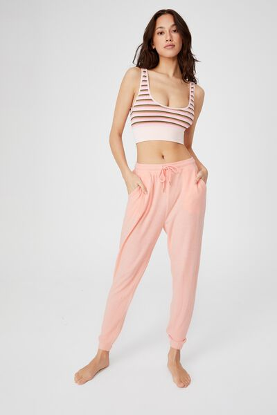 Super Soft Slim Cuff Pant, ROSE QUARTZ MARLE