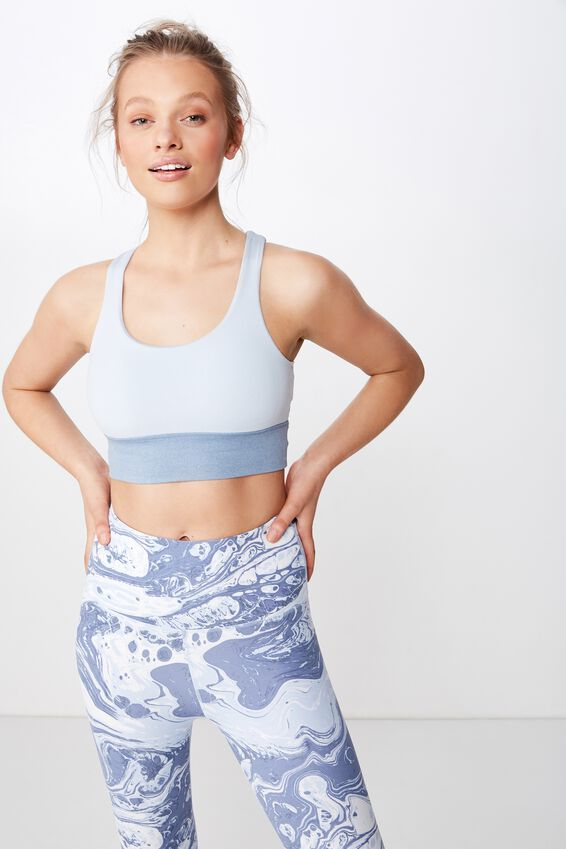 So Soft Marle Crop, FROSTED BLUE MARLE
