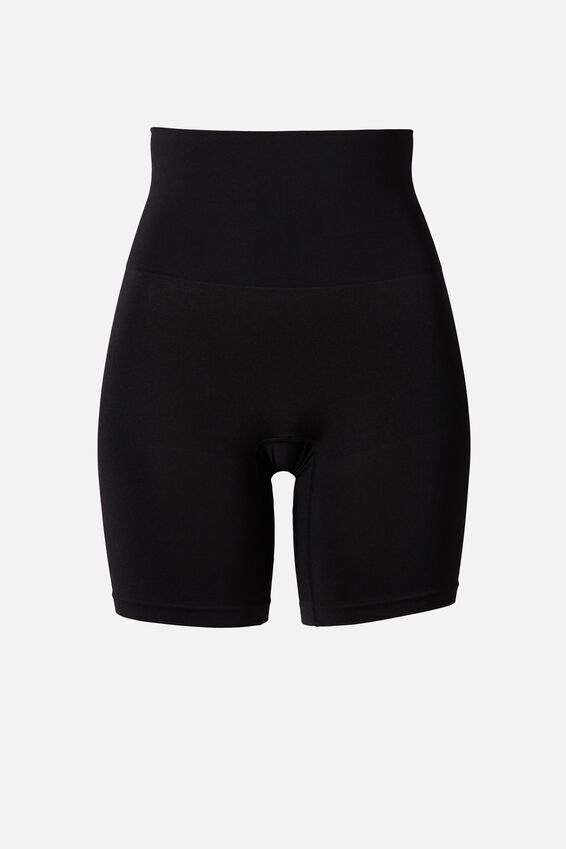 Smoother And Shaper High Waist Short, BLACK