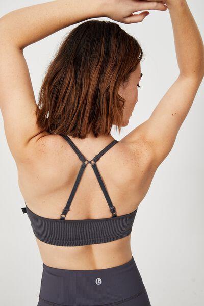Workout Yoga Crop, PEWTER GREY RIB