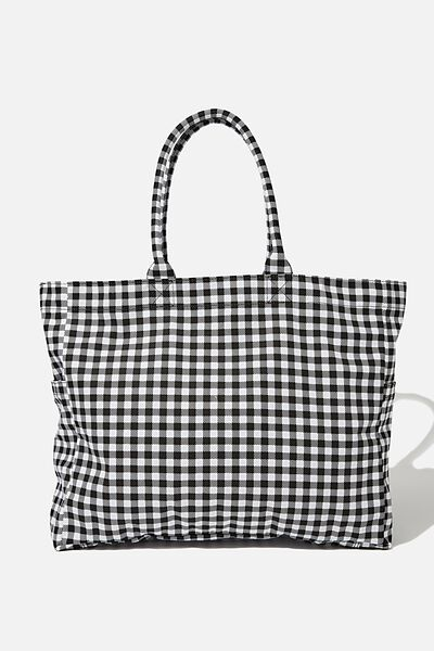 Oversized Tote, GINGHAM