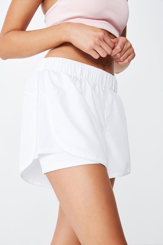 Ultra Mesh Rib Short, WHITE