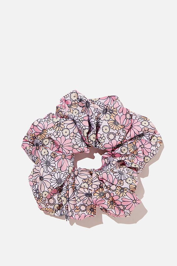 Super Luxe Scrunchie, SOFTLY RETRO FLORAL