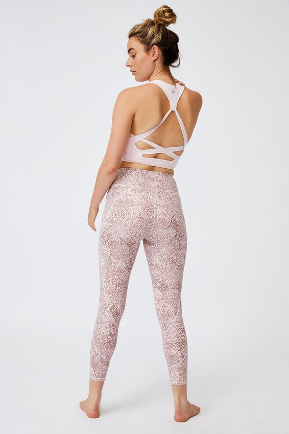 Lifestyle Pocket 7/8 Tight, MICRO TEXTURE DUSTY ROSE