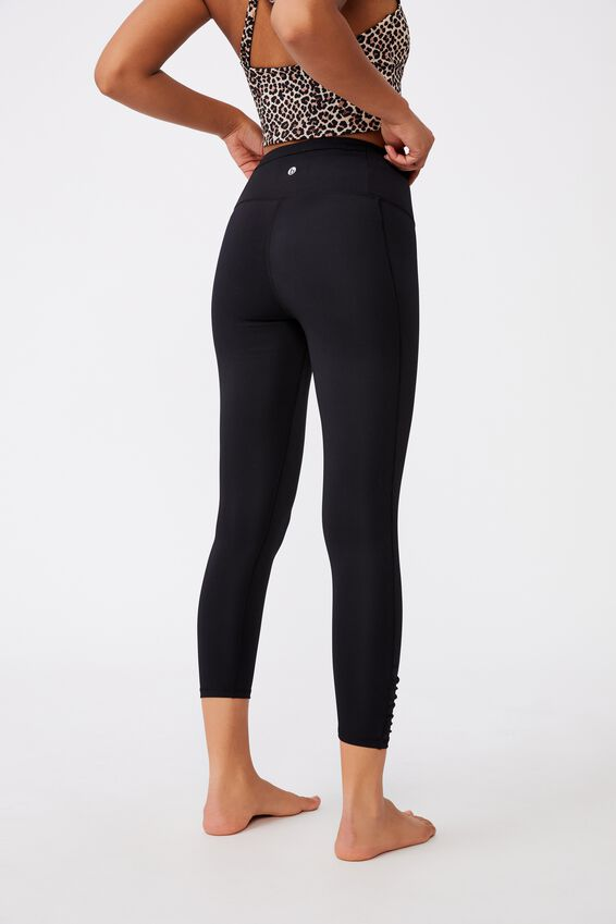 Love You A Latte 7/8 Active Tight, BLACK