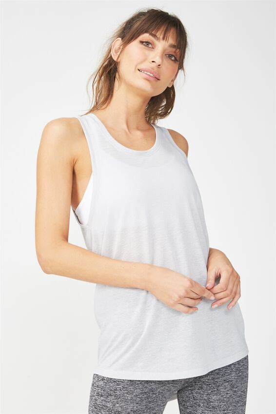 Slouchy Scoop Neck Tank, GREY MARLE