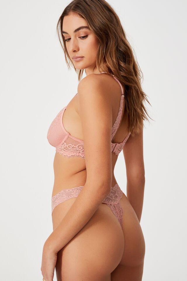 Ainsley Lace G String Brief, CANDY FLOSS