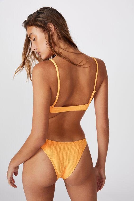 Knot Front Bralette Bikini Top, MANGO TEXTURE