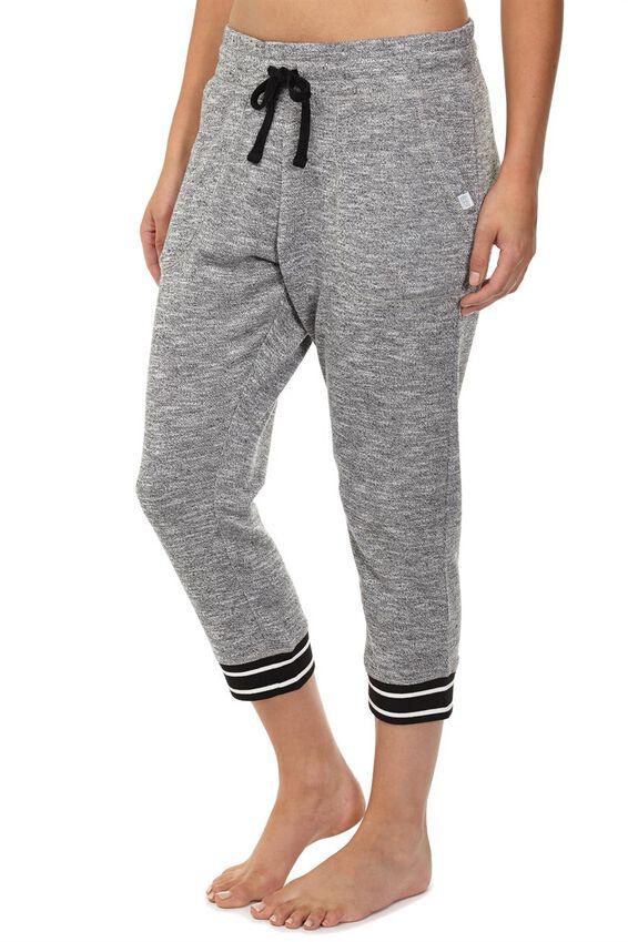 Cropped Gym Track Pants, BLACK/VARSITY