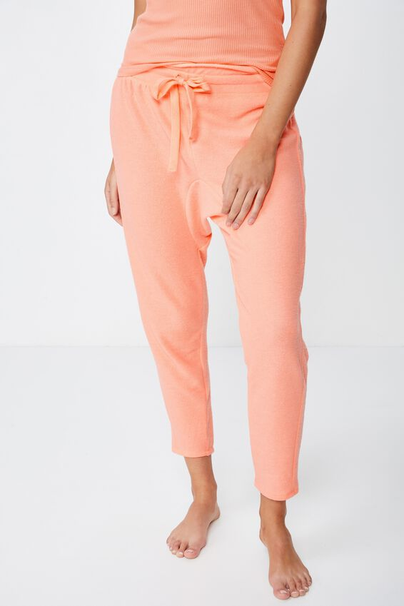 Supersoft Drop Crotch Pant, CAMEO PINK MARLE
