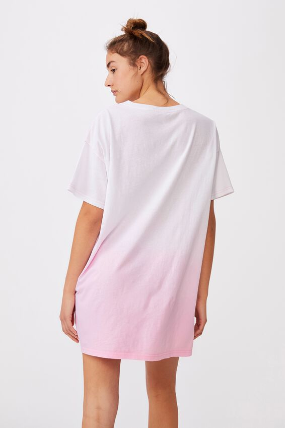 90 S Tshirt Nightie, UNLIMITED/OMBRE PINK