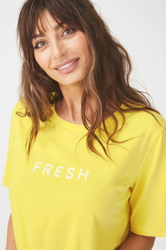 Boxy T Shirt, LEMONCHELLO/FRESH