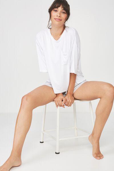 Sleep Recovery Boxy Tshirt, WHITE