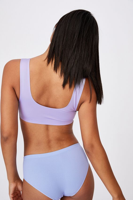 Everyday Bonded Crop, CHALKY LAVENDER