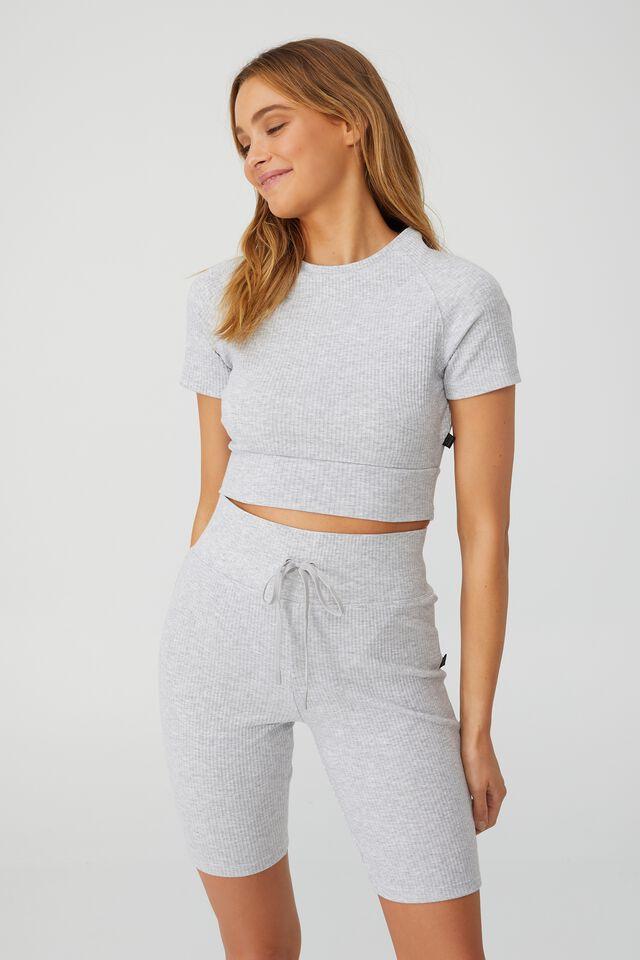 Lifestyle Rib T-Shirt, GREY MARLE
