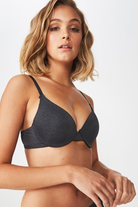 Everyday T Shirt Bra, CHARCOAL MARLE