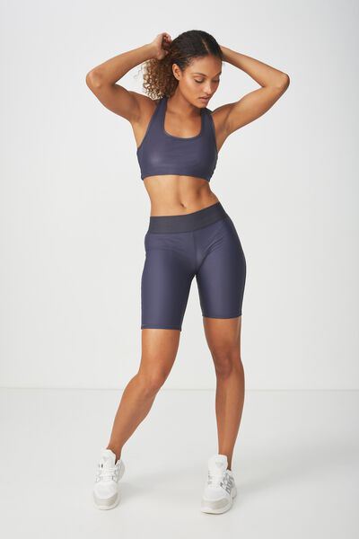 Active Mid Gym Short, SHIMMER SHADOW