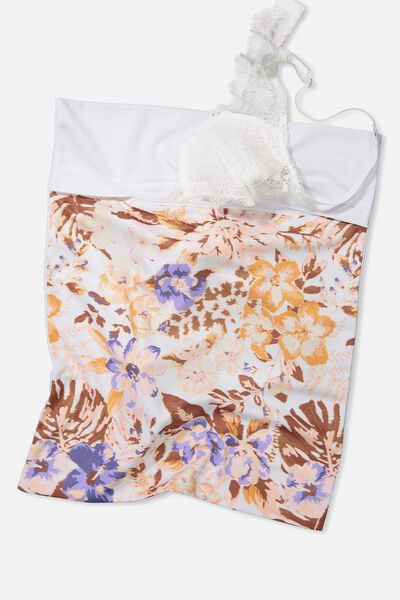 Delicates Wash Bag, OFF WHITE MISTED BLOOM
