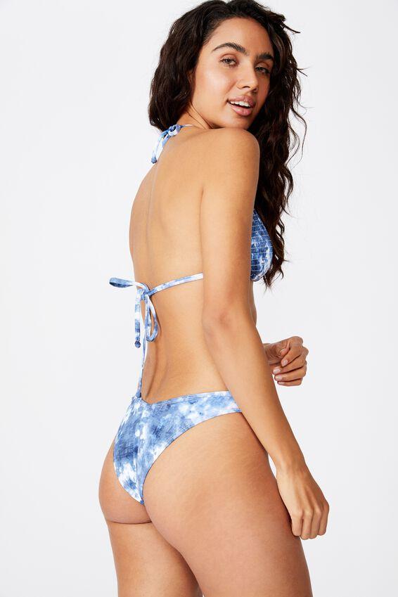 High Side Brazilian Bikini Bottom, BLUE TIE DYE