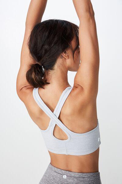 Workout Cardio Crop, GREY MARLE