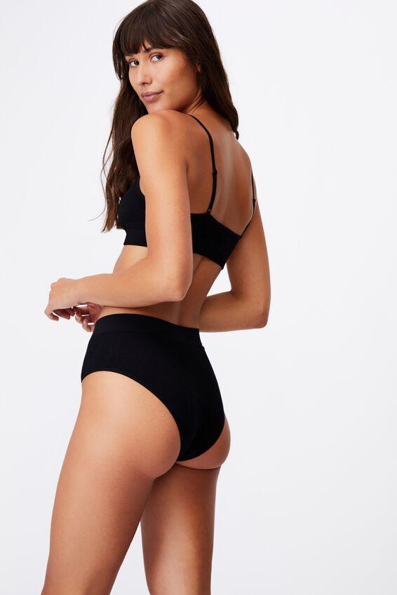 Seamless Mumdie Bikini Brief, BLACK