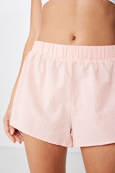 Sleep Time Boxer Short, SOFT CAMEO PINK DOBBY