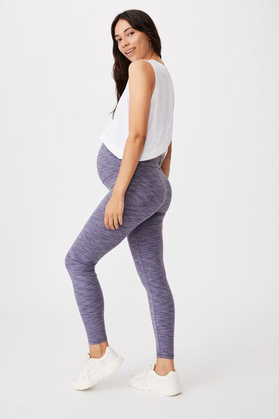 Maternity Heather Core Tight, ASH AMETHYST