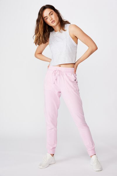 Washed Gym Trackpant, WASHED SOFT VOILET