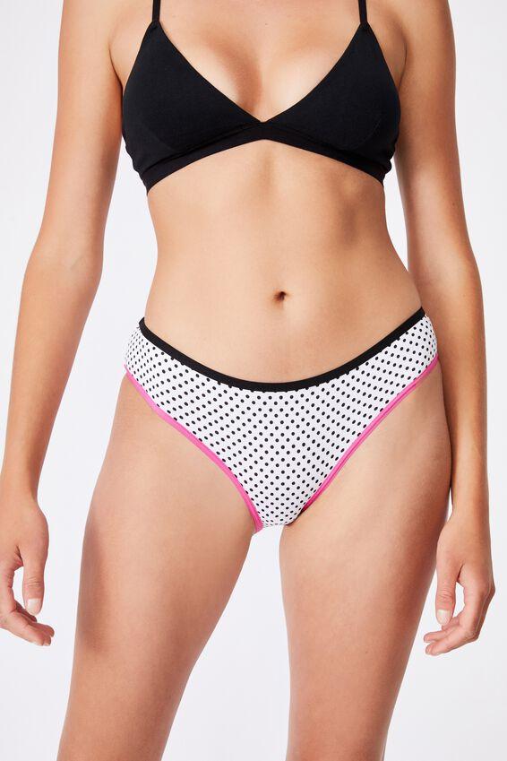 Sporty Femme Bikini Brief, STRIPE/WHITE/SPOT