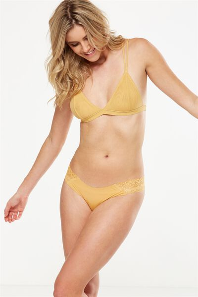Party Pants Seamless Brasiliano Brief, HONEY MARLE