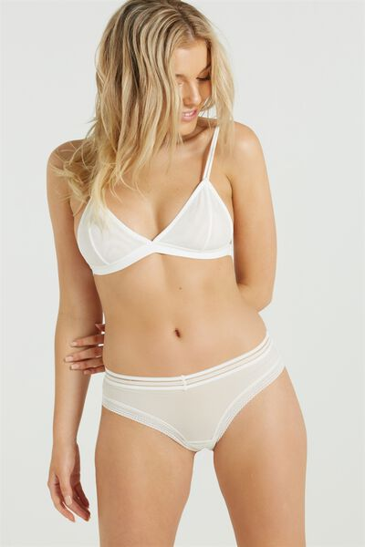 The Body V Bralette, CREAM