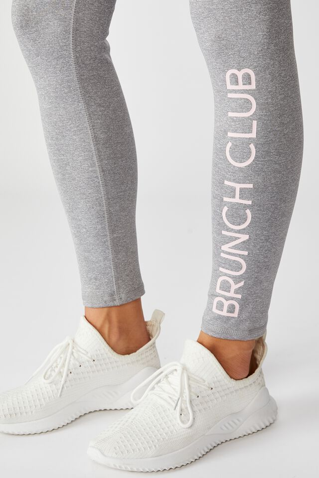 Personalised High Waist Core Tight, MID GREY MARLE