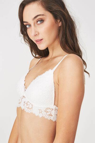 Maddie Lace Wirefree Bra, CREAM