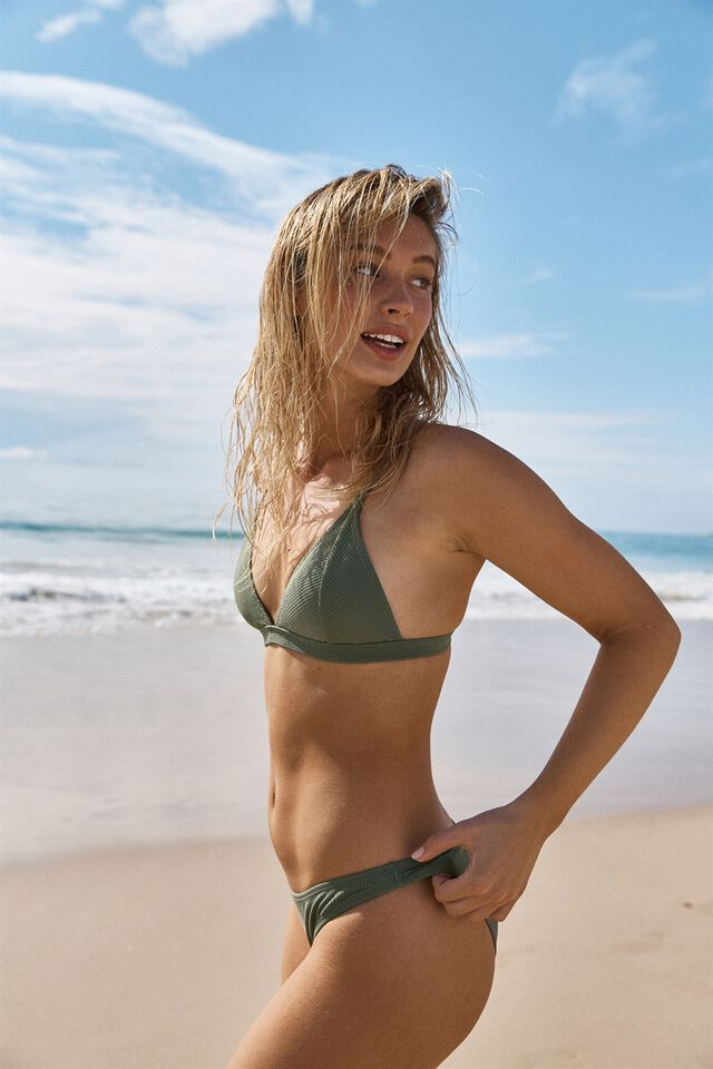Classic Full Bikini Bottom, COOL AVOCADO RIB