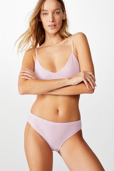 Seamfree Rib Bikini Brief, SOFT VIOLET MARLE