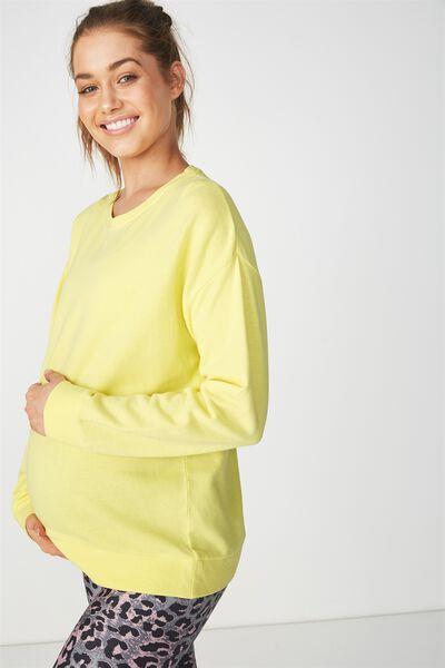 Maternity Active Crew Long Sleeve Top, SUNFLOWER YELLOW