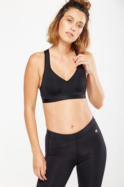 Workout K.I.R Sports Bra, BB BLACK/BLACK