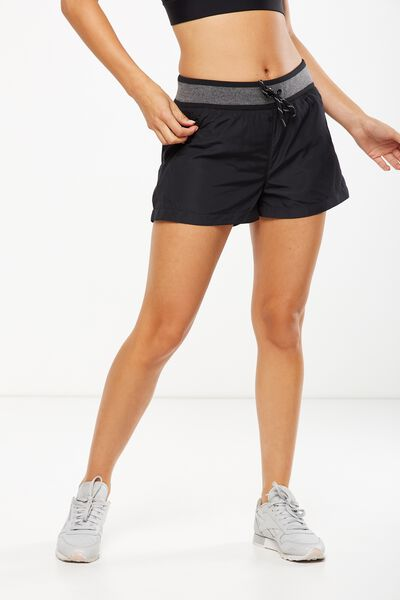 Gym Jogger Short, BLACK/GREY MARLE