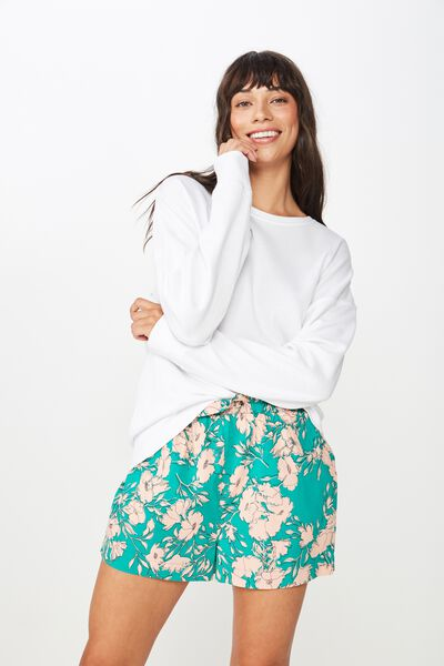 Woven Paperbag Short, SIMPLE TOSSED FLORAL