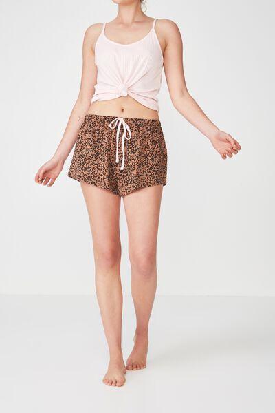 Jersey Short, HAZEL LEOPARD