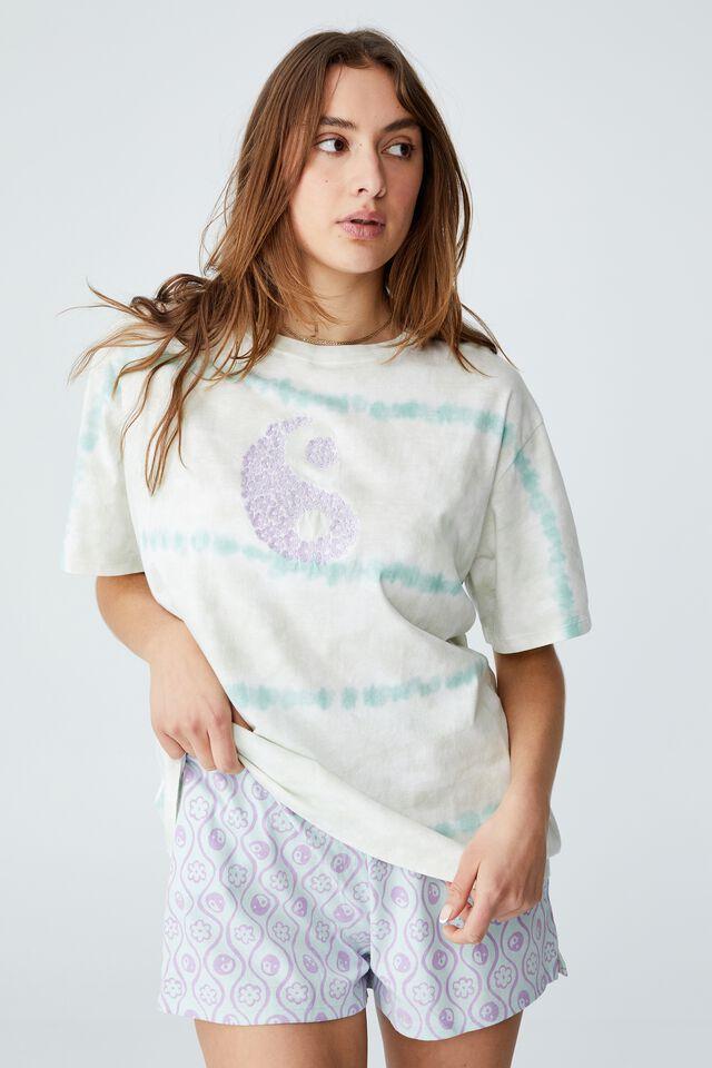Jersey Relaxed Bed T-Shirt, YIN YANG TIE DYE