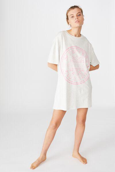 90 S Tshirt Nightie, LCN APP THE BEATLES LONELY HEARTS/SOFT GREY MARLE