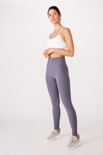 Lifestyle Rib Seamless Tight, STORM BLUE