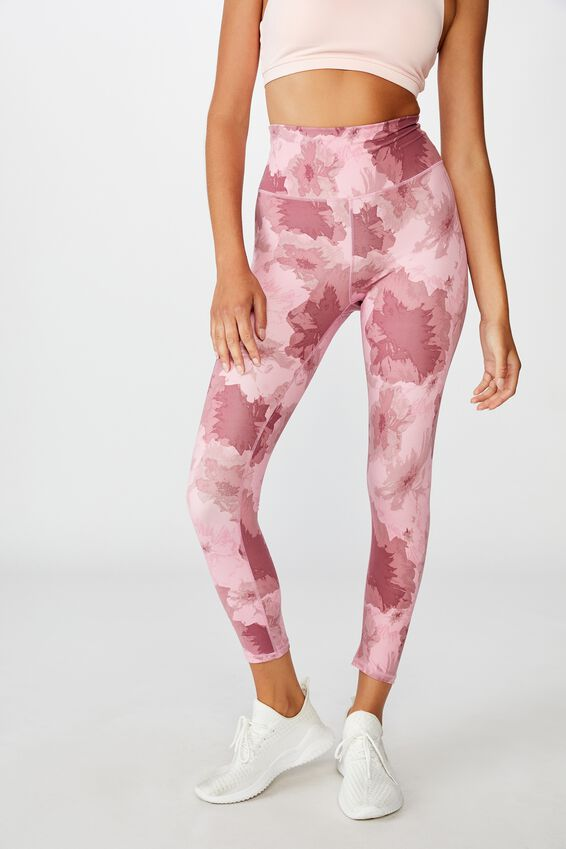 Lifestyle 7/8 Tight, WASHED ROSE CAMO FLORAL