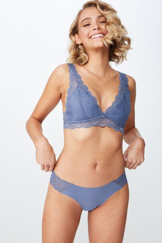 Party Pants Seamless Brasiliano Brief, AIRY BLUE