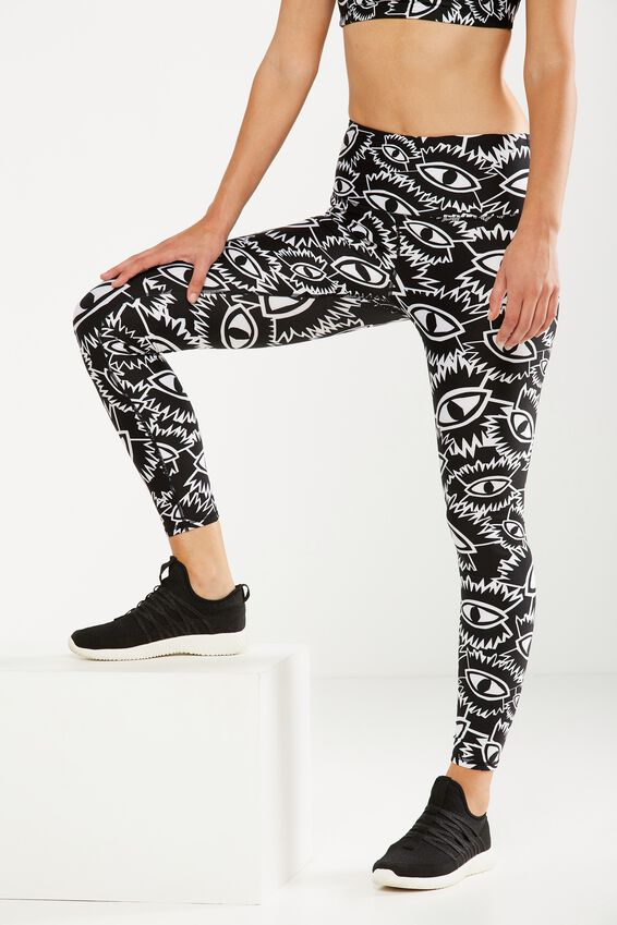 Highwaisted Thermal Printed Tight, BBH JAGGED EYES