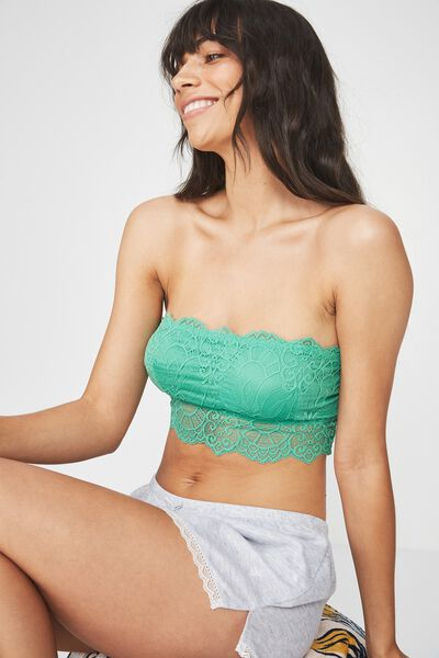Candice Bandeau Bralette, PALM GREEN