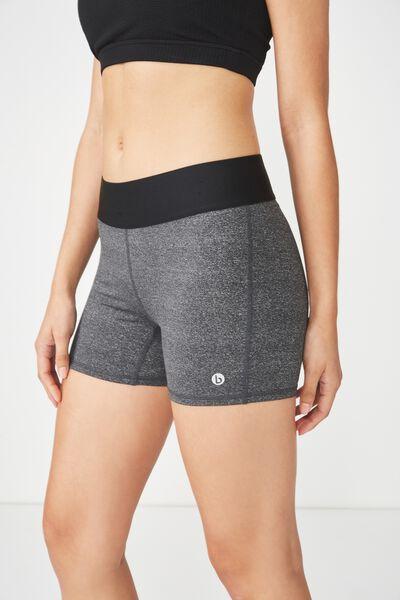 Active Gym Short, CONCRETE MARLE / BLACK