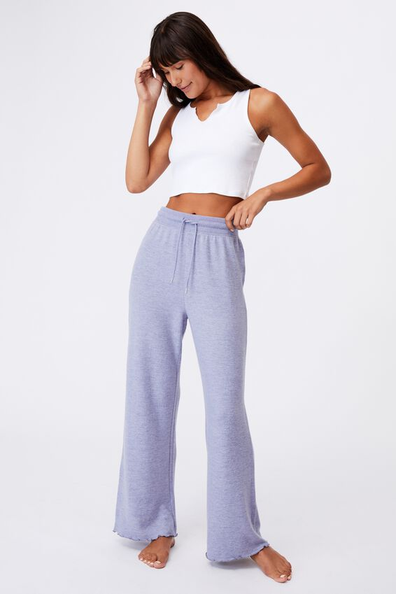 Super Soft Relaxed Pant, PERIWINKLE MARLE