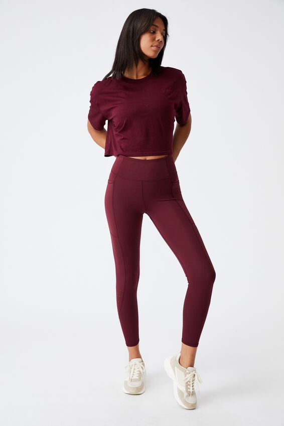 Relaxed Active T-Shirt, MULBERRY/BUBBLE TEA